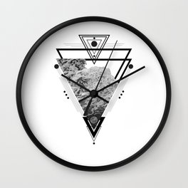 Wiccan Water Element Symbol Pagan Witchcraft Triangle Wall Clock