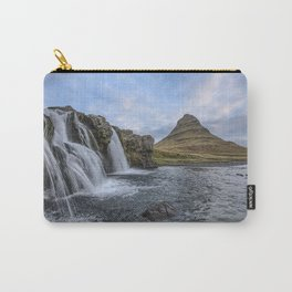 Waterfall Cascade Kirkjufell Mountain Iceland Carry-All Pouch