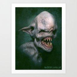 Albino Goblin Art Print