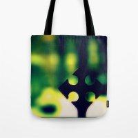 cross Tote Bags featuring Cross by Leffan