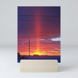 Winter Light Pillar Mini Art Print