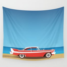 Vintage Car Wall Tapestry