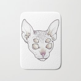 Alien Kitty Bath Mat