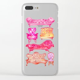 Victorian Lounge – Pink Palette Clear iPhone Case