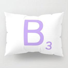 Scrabble Typography B in Purple Pillow Sham