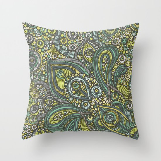 Blue safari Throw Pillow