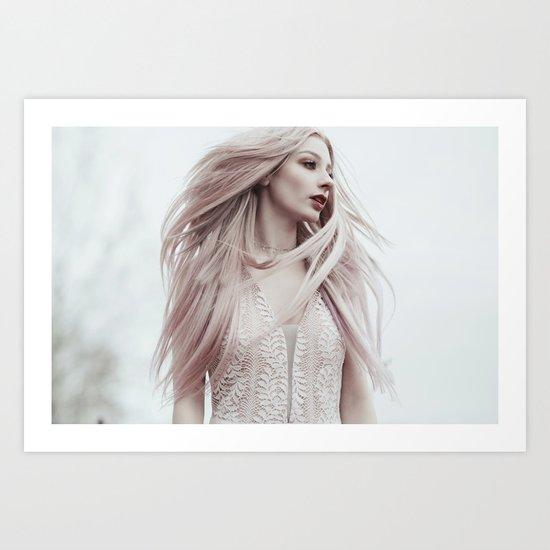 Pastel wind Art Print