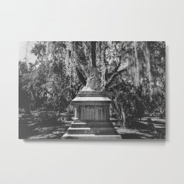 Bonaventure Cemetery Statue Metal Print