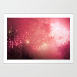 Universe of Fireworks. Art Print