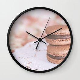 Chocolate Macarons Wall Clock