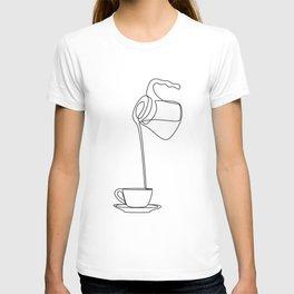 Coffee One Line Art T-shirt