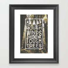 TOUGH TREES Framed Art Print