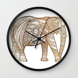 Elephant-natural ombré  Wall Clock