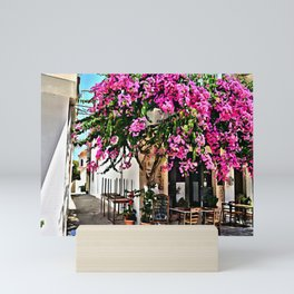 Pnk Garden in Paros Island Mini Art Print