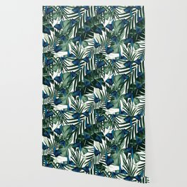 Tropical Butterfly Jungle Leaves Pattern #1 #tropical #decor #art #society6 Wallpaper