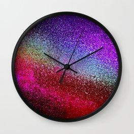 RAINBOW MOSAIC GLITTER Wall Clock