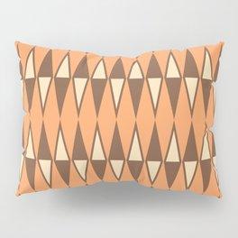 Mid Century Modern Diamond Pattern Brown Orange 231 Pillow Sham