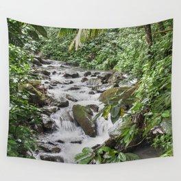 Smaller stream - Caimitillo river in upper El Yunque rainforest PR Wall Tapestry