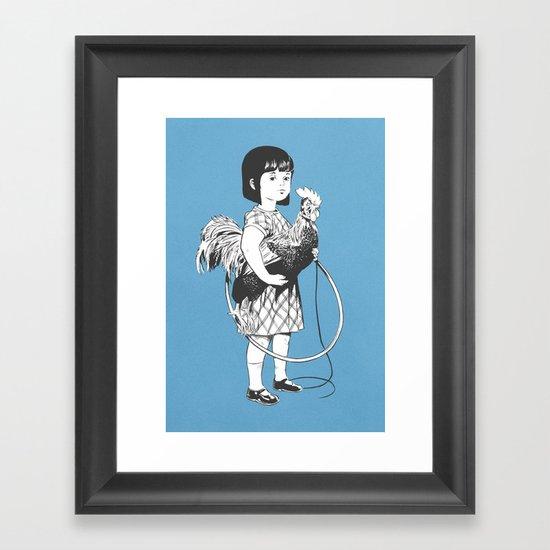 Rooster Girl Framed Art Print