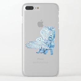 Cat Owl Clear iPhone Case
