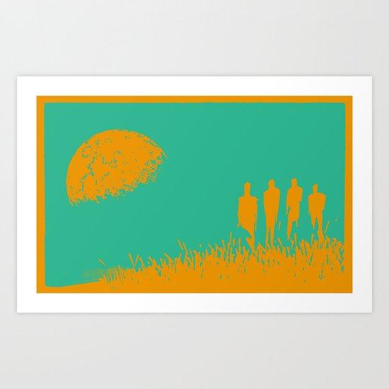 """New Moon"" by Justin Hopkins (Green Version) Art Print"