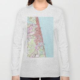 Vintage Map of Virginia Beach (1965) 2 Long Sleeve T-shirt