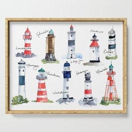 Swedish lighthouses Serving Tray