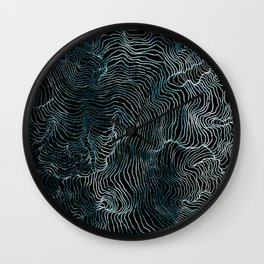 Lines of the Tide Wall Clock