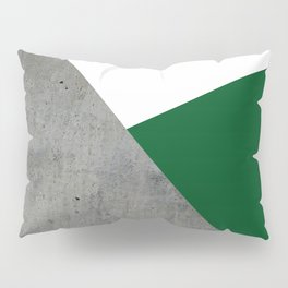 Concrete Festive Green White Pillow Sham