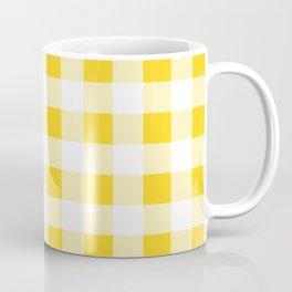 Yellow and White Buffalo Check Coffee Mug