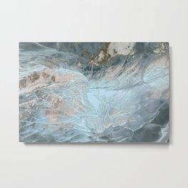 Nature Stones Marble Metal Print