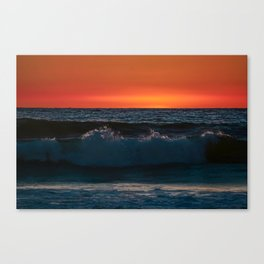 Sunset Waves Canvas Print