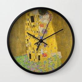 """Gustav Klimt """"The Kiss"""" Wall Clock"""