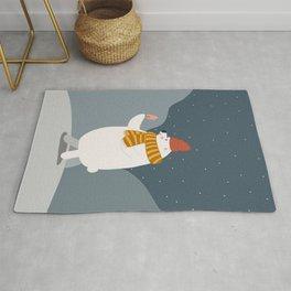 Polar bear with icecream Rug