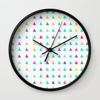 confetti Wall Clocks featuring Confetti by Leah Flores