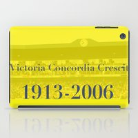 arsenal iPad Cases featuring Highbury (Yellow) by Tom Cronin