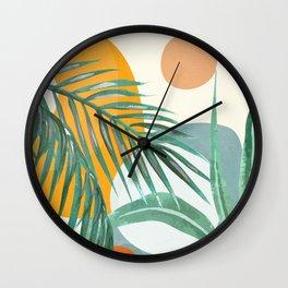 Leaf Design 02 Wall Clock