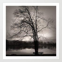 At the Lake. Art Print