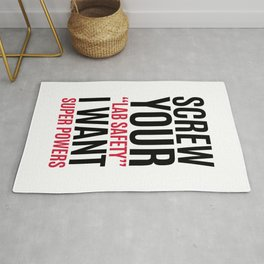 I Want Super Powers Funny Quote Rug