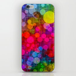 Rainbow Bubbles Abstract Design iPhone Skin