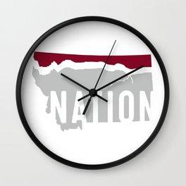 Griz Nation (Hi-Line Nation) Wall Clock