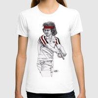 tennis T-shirts featuring Tennis Mcenroe by Paul Nelson-Esch Art