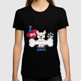 JINDO Cute Dog Gift Idea Funny Dogs T-shirt
