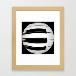 Keyboard Circle Framed Art Print