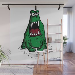 Mad Frog goin crazy Wall Mural