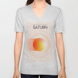 Saturn - The Ringed Planet Unisex V-Neck