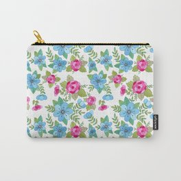 Blue Lilly Watercolor Carry-All Pouch