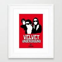 velvet underground Framed Art Prints featuring VELVET UNDERGROUND R by zzglam