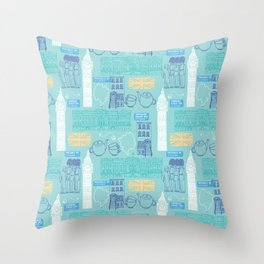 Queen and Country - Mint Throw Pillow