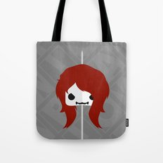 Marshmallow Black Widow Tote Bag